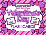 Valentine's Day Kindergarten Dolch Sight Word Flashcards