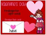 Valentine's Day Kindergarten Sight Words Flash Cards