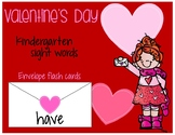 Valentine's Day Kindergarten Sight Words Flash Cards