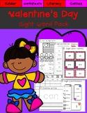 Valentine's Day Kindergarten Sight Word Pack