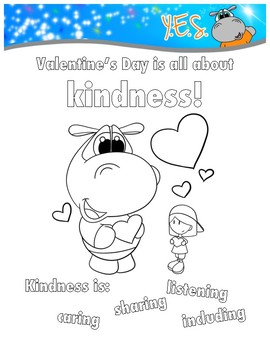 Valentine's Day - Kindness Coloring Sheet