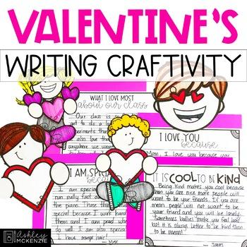 Valentine's Day Kindness Writing Craftivity