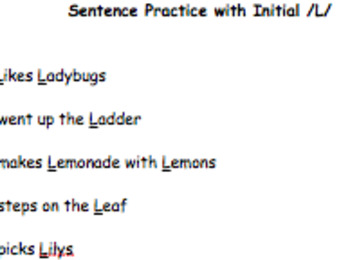 Valentine's Day /L/ Homework Practice