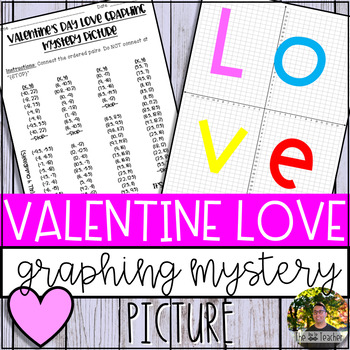 Valentine's Day LOVE Graphing Mystery Picture (Coordinate Grid & Ordered Pairs)
