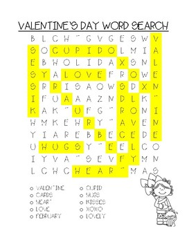 Valentine's Day/LOVE Word Searches