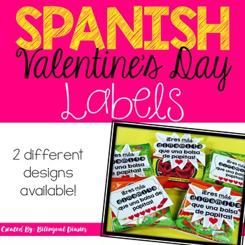 Valentine's Day Labels (SPANISH)