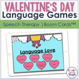 Valentine's Day Language Activities BOOM Cards™  | Speech Therapy