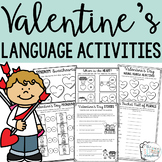 Valentine's Day Language Activities Pack for Speech Therapy and EAL/ESL/EFL