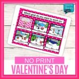 No Print Valentine's Day Language & Articulation Games