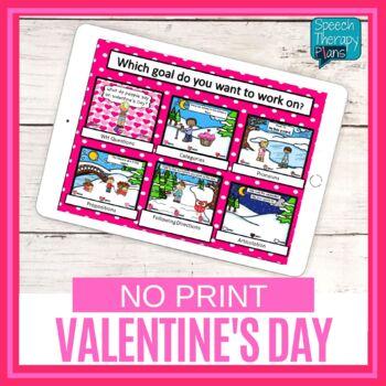 Valentine's Day Language & Articulation Games - No Print