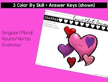 Valentine's Day Language & Grammar Worksheets
