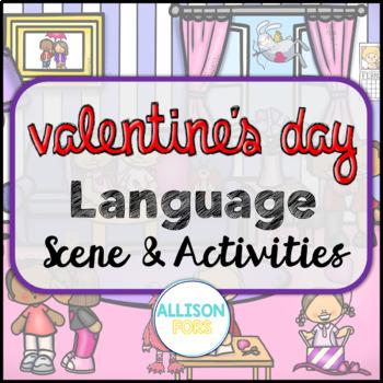 Valentine's Day Language Scene Speech Therapy