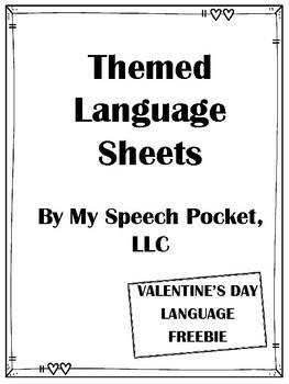 NO PREP Valentine's Day Language Sheets