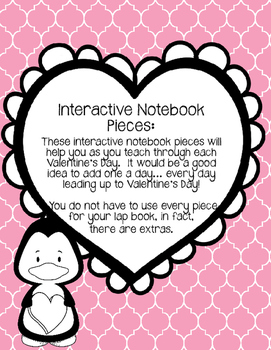 Valentine's Day Lapbook. Interactive Notebook pieces.