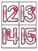 Valentine's Day Large Numbers 0-20 Flashcards - Make Activities and Room Decor