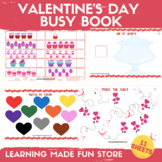 Valentine's Day Learning Binder Toddler Busy Book Preschoo