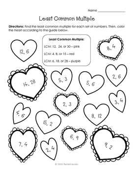 Valentine's Day Least Common Multiple
