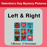 Valentine's Day: Left & Right side - Color by Emoji - Myst