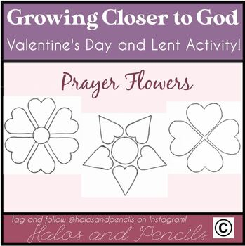 """Valentine's Day/ Lent Bulletin Board Activity """"Growing Closer to Jesus"""""""
