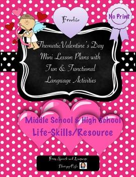 Valentine's Day Lesson Plan-Freebie