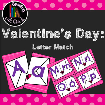 Valentine's Day Letter ABC match game