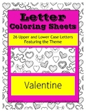 Valentine's Day Letter Coloring Pages ~ Upper and Lower Ca