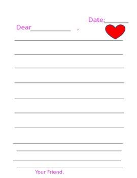 Valentine's Day Letter Format