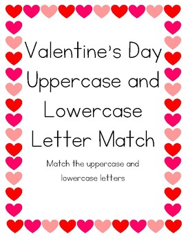 Valentine's Day Letter Match