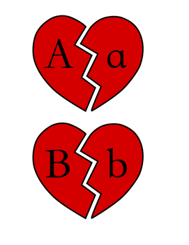 Valentine's Day Broken Heart Letter Matching