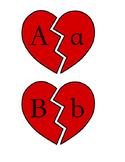 Valentine's Day Broken Heart Letter Matching