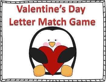 Valentine's Day Letter Match Game