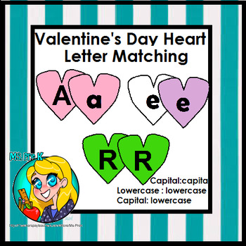 Valentine's Day Letter Matching Activity