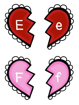 Valentine's Day Letter Matching Cards