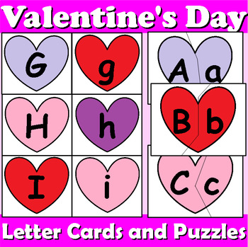 Valentine's Day Letter Recognition Centers
