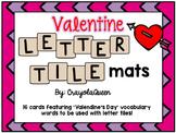 Valentine's Day Letter Tile Mats