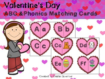 Valentine's Day ABC & Phonics Matching Cards
