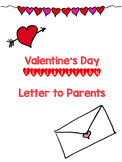 Valentine's Day Letter to Parents