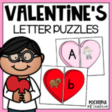Valentine's Day Letters and Beginning Sounds Puzzles