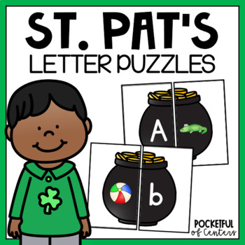 St. Patrick's Day Letters and Beginning Sounds Puzzles