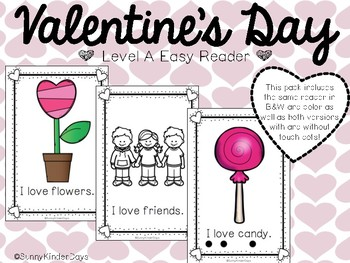 Valentine's Day Level A Easy Reader