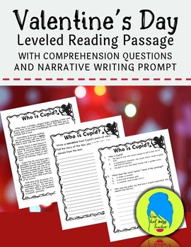 Valentine's Day Leveled Passage with Questions and Writing Prompt
