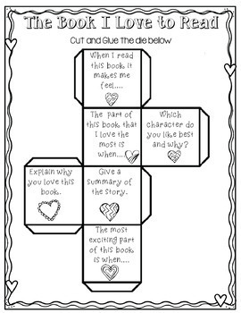 Library No Prep Printables- Valentine's Day Themed