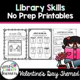 Library No Prep Printables- Valentine's Day Themed