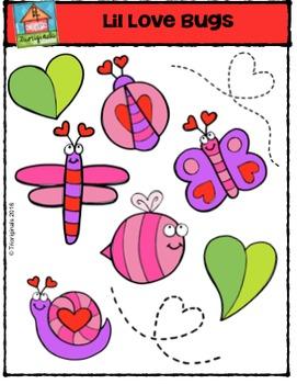 Valentine's Day Lil Love Bugs {P4 Clips Trioriginals Digital Clip Art}