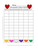 Valentine's Day Line Plot