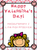 Valentine's Day Line Plot & Measurement FREEBIE