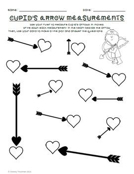 Valentine's Day Line Plot & Measurement FREEBIE