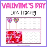 Valentine's Day Line Tracing | Handwriting Practice | Pre-Writing