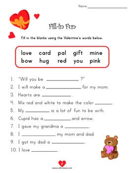 Valentine's Day Literacy Activities - 1st Grade