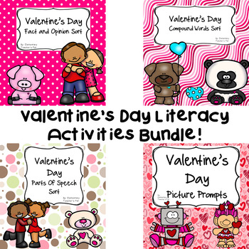 Valentine's Day Literacy Activities Bundle